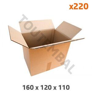 Caisse Carton Double Cannelure 160 X 120 X 110 Mm (par 220)