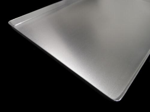 10x THEKENBLECHE 60x20x2cm SILBER ALU NEU AUSSTELLBLECH KUCHENBLECH BLECHE