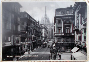 1943-cartolina-Milano-Corso-Vittorio-Emanuele-animata-Tram-edizione-C-Capello