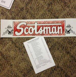 Scotsman-Travel-Trailer-Decal-Gardena-Calif-Red-Green-Blk-amp-White-vintage-style