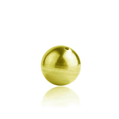 333 Gelbgold Kugel Perle 8ct durchbohrt in verschiedenen Größen