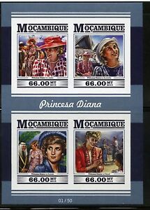 MOZAMBIQUE 2015 PRINCESS DIANA  IMPERFORATE SHEET MINT NEVER HINGED