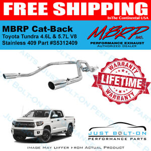 MBRP S5312409 T409-Stainless Steel Dual Split Rear Cat Back Exhaust System