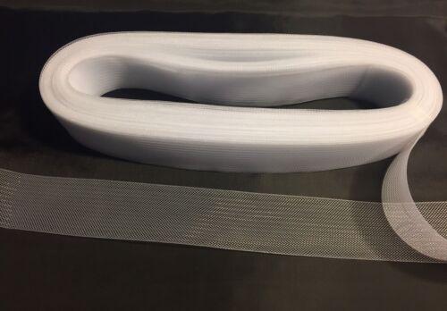 environ 5.08 cm environ 9.14 m Blanc Crinoline de crin 2 in Braid Trim-Wedding-Bridal-Décoration 10 Yd
