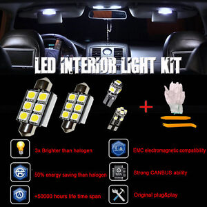Error Free White 11 SMD LED Interior Lights Opel Astra H GTC OPC ...