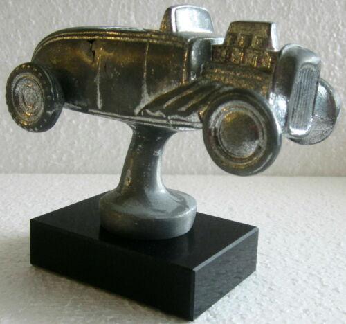 1932 Ford Roadster Hot Rat Rod car trophy paperweight desk model sanded alum