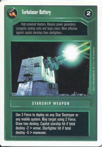 Star Wars CCG Premiere White Border Turbolaser Battery