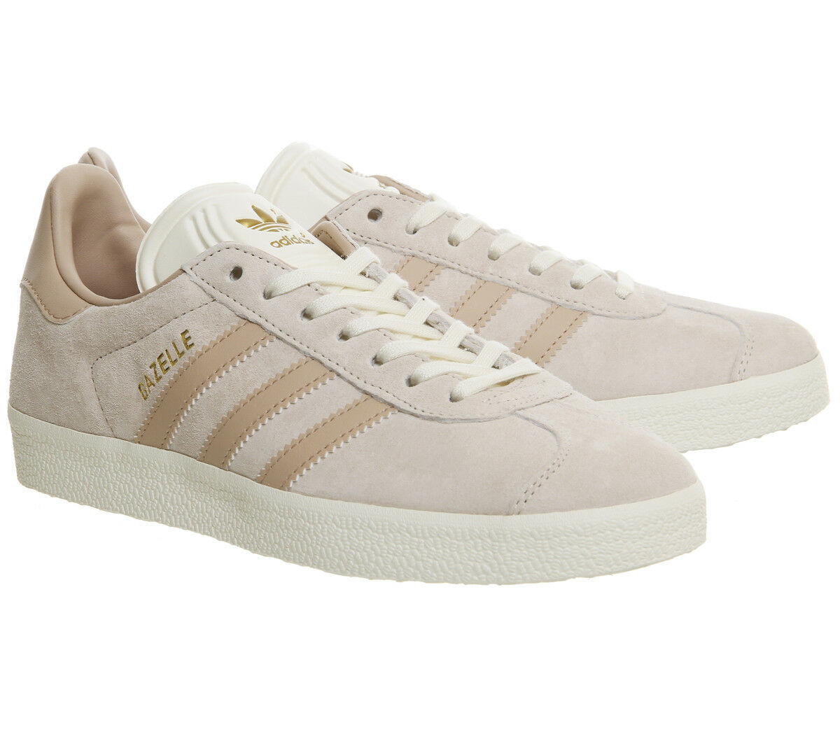 Adidas Men Gazelle  Linen Dust Pearl Cream Trainer 10.5 UK EU 45 1 3 USA 11