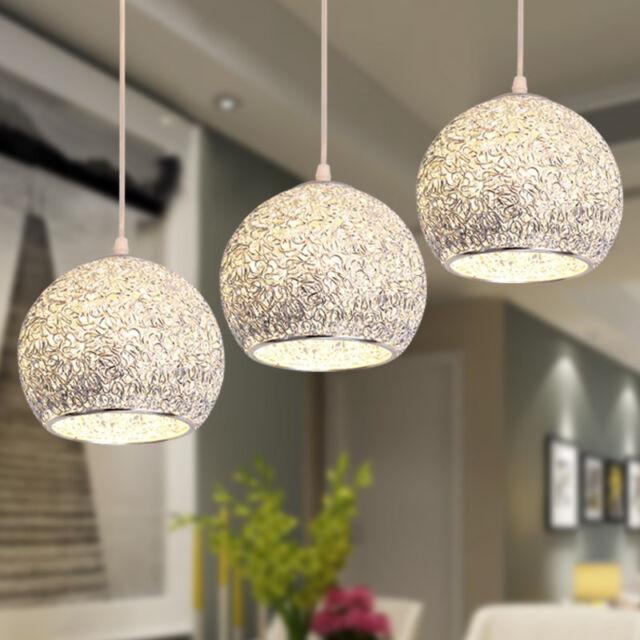 Kitchen Pendant Light Bar Lamp Silver Chandelier Lighting Modern Ceiling