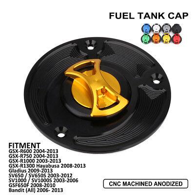 CNC Fuel Tank Gas Cap for Suzuki SV650 SV650S SV1000 SV1000S GSX-R1000 2003-2013