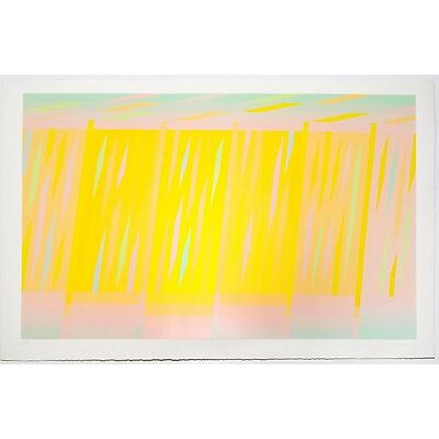 Martin Canin: 7905 (Yellow), 1972. Signed, Numbered, Fine Art Print.