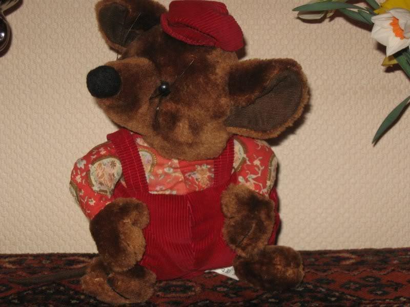 Dinoleksaks I Holland årgång Goggles Mouse Plush
