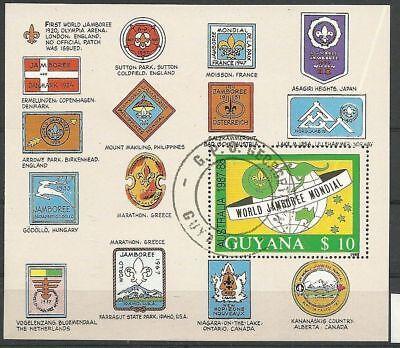 0949/ Guyana Block 40 Gestempelt Patches Jamboree