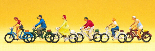 Preiser 10091 Spur H0 Figuren Radfahrer  #NEU in OVP##