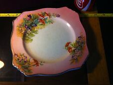 Royal Winton China Plate Collectable Floral Pink old