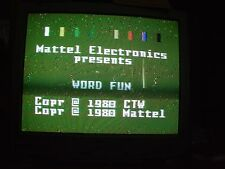 Electric Company Word Fun Intellivision 1980 Arcade Game Working Copy Collection