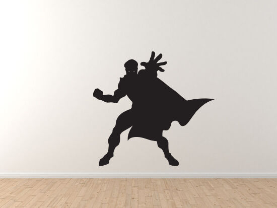 Comic Book Style - Super Hero Silhouette Power Version 4 - Vinyl Wall Decal