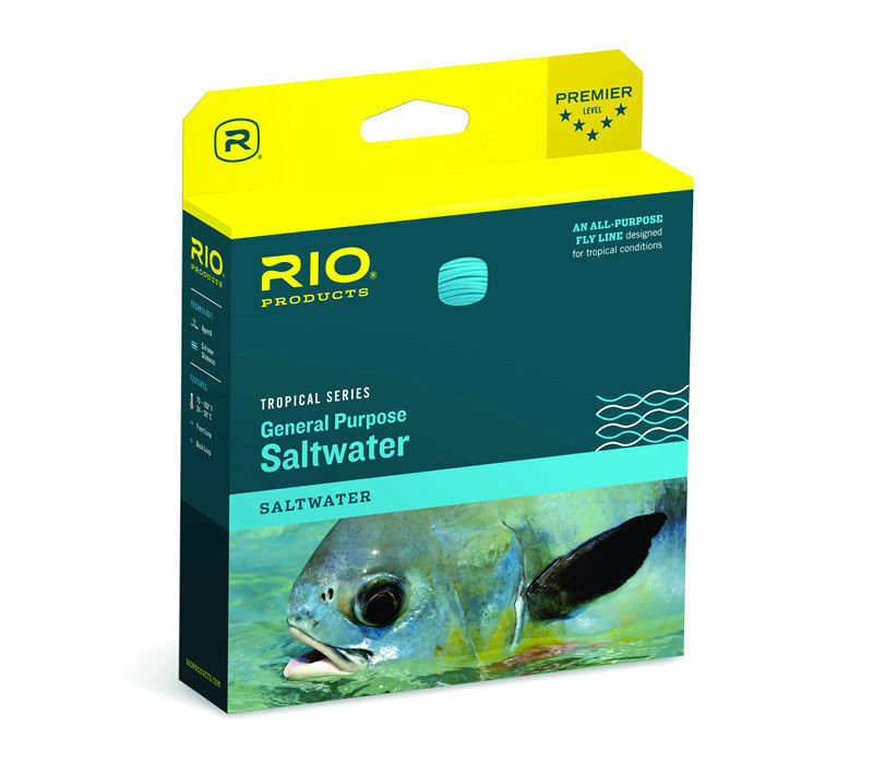 RIO GENERAL PURPOSE TROPICAL SALTWATER WF-10-F I WT. CLEAR SINK TIP FLY LINE
