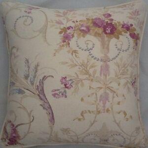 A-16-Inch-cushion-cover-in-Laura-Ashley-Malmaison-Plum-fabric
