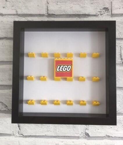 Mini Figures Black Display Case Frame Yellow Lego Brick Series         Lego Logo