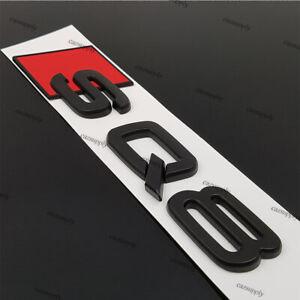 New-Audi-SQ8-Logo-Black-Matte-Rear-ABS-Plastic-Sticker-Emblem-Adhesive-Badge