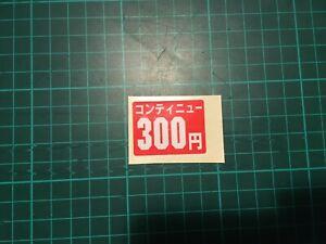 Autocollant 300 Yen Original Game Center Borne Arcade Coin Sticker 300 Yen Couleurs Fantaisie