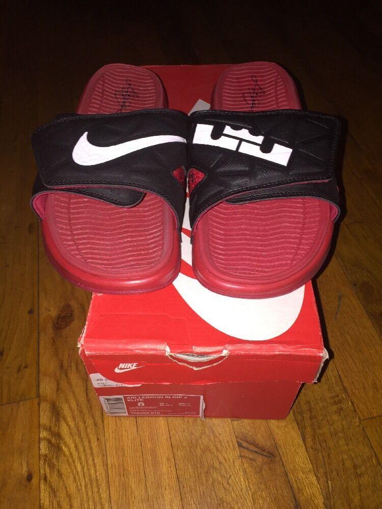 Nike lebron 4 slide palestra d'elite rosso / bianco nero 705483 610 impulso supremo