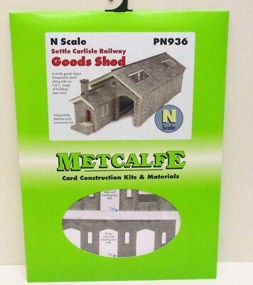 Metcalfe Settle Carlisle Railway Goods Shed N Gauge Card Kit  PN936