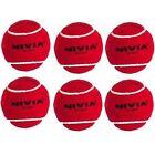 Nivia Red Heavy Cricket Tennis Balls (Pack of 6)
