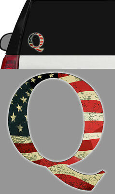 3 INCH Q QANON ANON AMERICAN FLAG WINDOW DECAL STICKER TRUMP STORM BREAD CRUMB