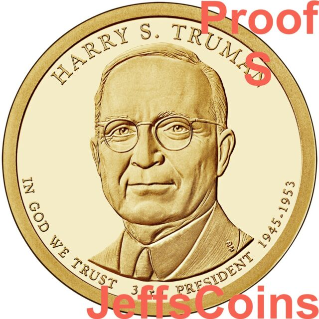 Harry S Truman $1 Presidential Golden Dollar Coin 2015 P