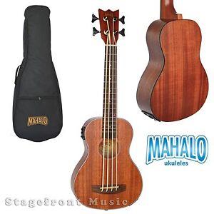 Mahalo Meab1 Bass Ukulele Electric Acoustic W Aquila