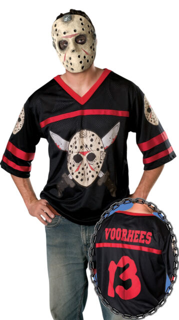 Men/'s Jason Voorhees Hockey Jersey /& Mask Friday the 13th Adult Size XL