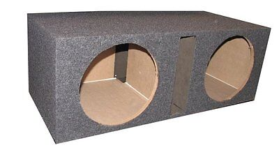 Q Power QBASS Dual 15-Inch Vented MDF Subwoofer Box 2 Speakers Enclosure