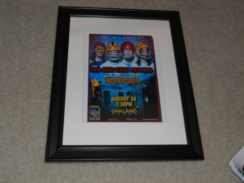 "Framed Red Hot Chili Peppers 2006 Concert Oakland, CA Mini-Poster 14""x17"""