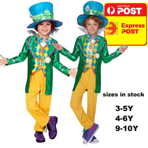 MAD HATTER BOYS DELUXE COSTUME CHILDREN