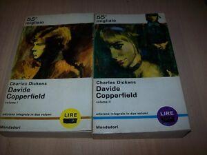 CHARLES-DICKENS-DAVIDE-COPPERFIELD-2-VOL-LIBRI-PAVONE-MONDADORI-417-418-1965