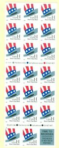 US-3268c-UNCLE-SAMS-HAT-33c-BOOKLET-OF-20-STAMPS-ISSUED-1998