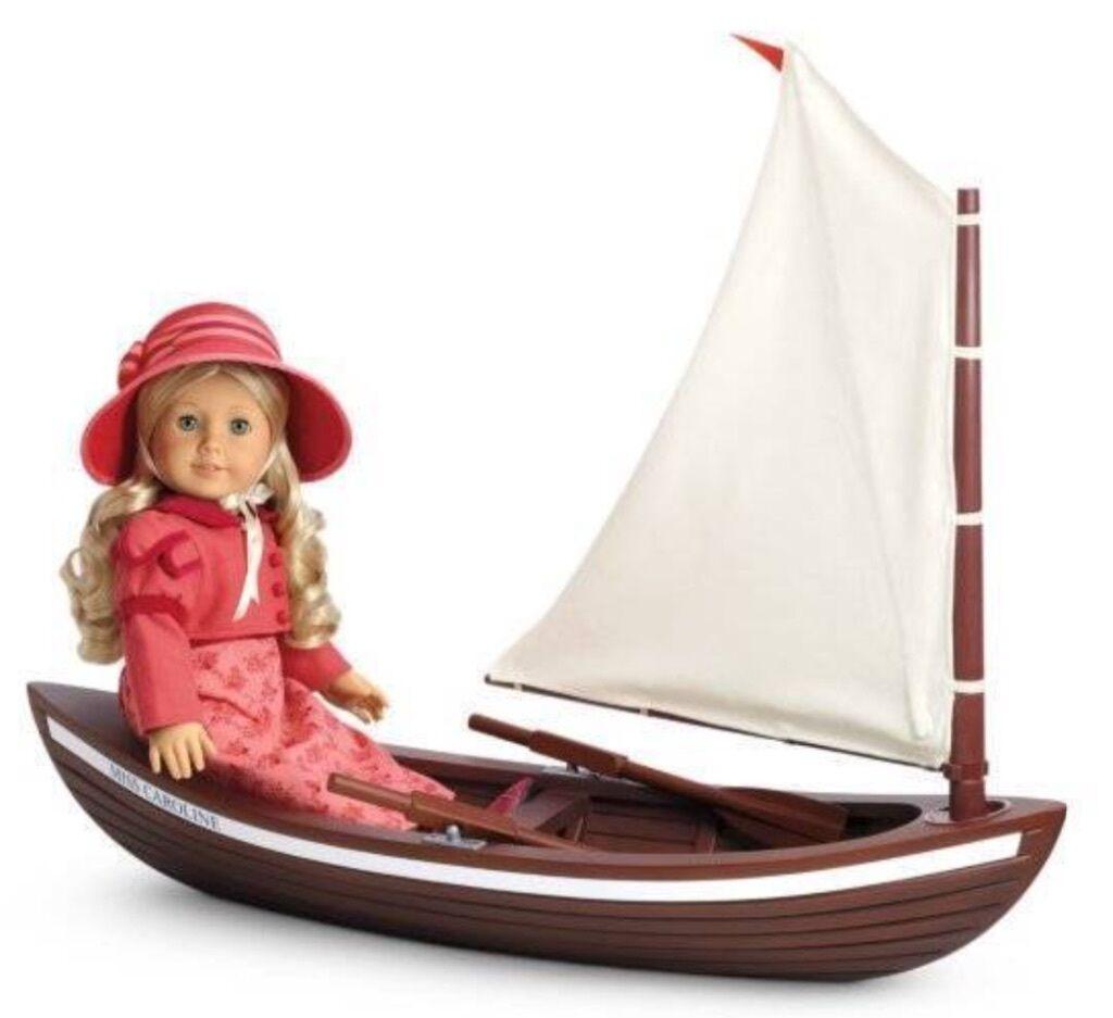 American Girl Doll Carolines Bote Barco. nuevo En Caja. (sin Muñeco) Raro artículo de coleccionistas.