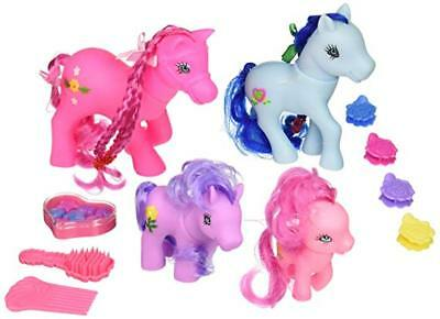 Industrious My Little Pony Horse Figures Kids Play Set Hair Styling Animal Figure Set Matching In Colour