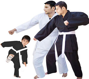 Karate-Suit-Karate-Uniforms-White-Belt-Juniors-amp-Adults-SIZE-000-to-SIZE-7