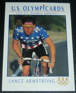 Lance Armstrong 1992 Impel U.S. Olympicards Rookie Card RC USA Olympic Hopefulls