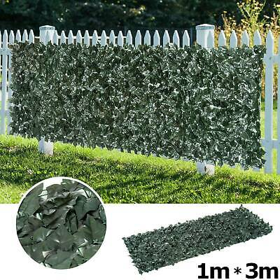 Artificial Ivy Leaf Hedge Wall Cover Privacy Screen Garden Outdoor Fence 1m 3m