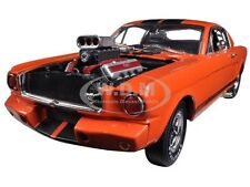 1965 SHELBY MUSTANG GT350R ORANGE RACE ENGINE 1/18 SHELBY COLLECTIBLES SC514