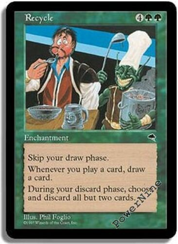 Green Tempest Mtg Magic Rare 1x x1 1 PLAYED Recycle