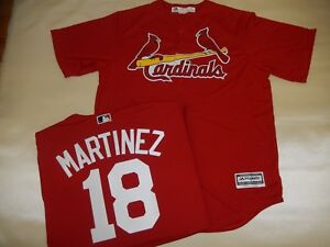 detailed look bb988 13801 Details about 8112 Majestic St. Louis Cardinals CARLOS MARTINEZ SEWN  Baseball Jersey ALT RED