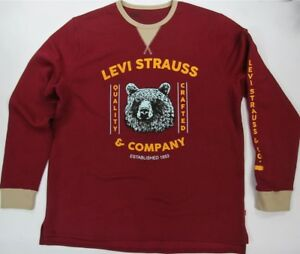 Levi-039-s-Sweatshirt-Quality-Crafted-Levi-Strauss-amp-Co-Rouge-Bear-Levis