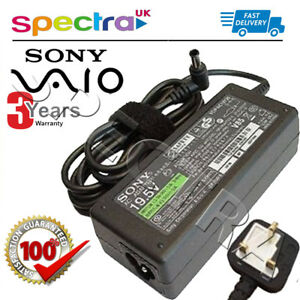 Genuine-Original-Sony-Vaio-VPCSE-Laptop-Charger-AC-Adapter-Power-Supply-Cord-for