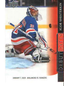 2020-21 UD Upper Deck Hockey Debut Dates Singles #DD1-DD20 You Pick From List !!