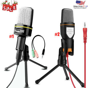 3-5mm-Microphone-Mic-Condenser-Recording-Studio-Tripod-Stand-For-Laptop-PC-Phone